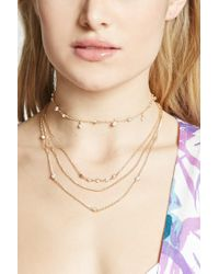 Forever 21 - Metallic Faux Stone Necklace Set - Lyst