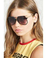 Forever 21 - Multicolor Geometric Aviator Sunglasses - Lyst
