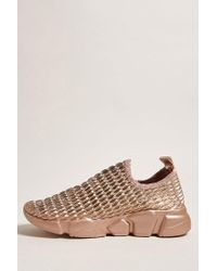 Forever 21 - Multicolor Faux Leather Low-top Sneakers - Lyst