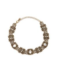 Forever 21 | Metallic Ornate Cutout Choker | Lyst