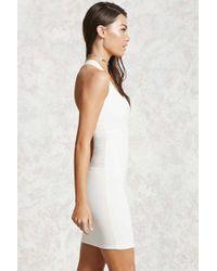 Forever 21 - White Bodycon Crisscross Dress - Lyst