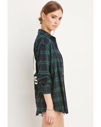 Forever 21 - Blue 00 Rules Plaid Flannel - Lyst