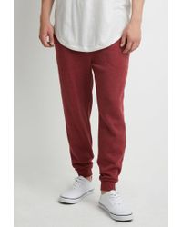 Forever 21 | Purple Drawstring Heathered Joggers for Men | Lyst