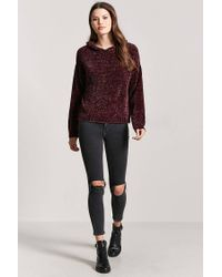 Forever 21 - Multicolor Oversized Chenille Hoodie - Lyst