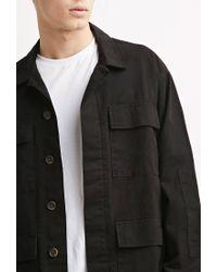 Forever 21 - Black Classic Utility Jacket for Men - Lyst