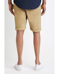 Forever 21 - Natural Cuffed Drawstring Shorts for Men - Lyst