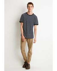 Forever 21 - Blue Striped Ringer Tee for Men - Lyst