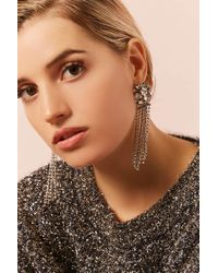 Forever 21 - Metallic Faux Crystal Duster Earrings - Lyst