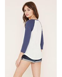 Forever 21 - Natural Classic Baseball Tee - Lyst