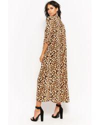 Forever 21 - Brown Leopard Print Kimono - Lyst