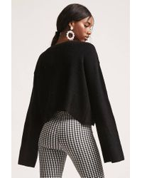 Forever 21 - Black Bell-sleeve Cutout Jumper - Lyst