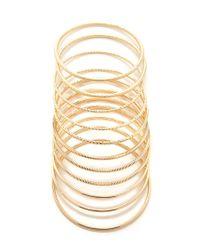 Forever 21 - Metallic Etched Spiral Bangle Set - Lyst