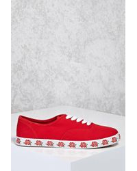 Forever 21 - Red Rose Printed Sole Sneakers - Lyst