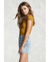 Forever 21 - Multicolor Lace-up V-neck Top - Lyst