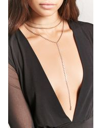 Forever 21 - Metallic Drop Chain Necklace Set - Lyst