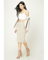 Forever 21 - Natural Stretch-knit Skirt - Lyst