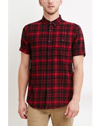 Forever 21 - Black Tartan Plaid Cotton Shirt for Men - Lyst