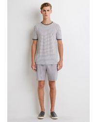 Forever 21 - Gray Linen-blend Chambray Shorts for Men - Lyst