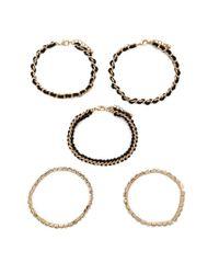 Forever 21 | Metallic Wrapped Chain Bracelet Set | Lyst