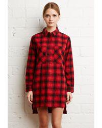 Forever 21 - Red Tartan Plaid Flannel Dress - Lyst