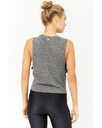 Forever 21 - Black Active Tie-front Muscle Tee - Lyst