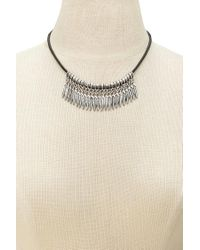 Forever 21 - Metallic Etched Feather Choker - Lyst