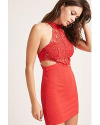 Forever 21 - Red Selfie Leslie Crochet Dress - Lyst