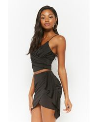 Forever 21 - Black Women's Draped Crop Top - Lyst
