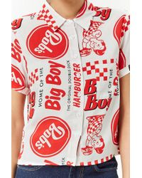 Forever 21 - Red Bob's Big Boy Graphic Shirt - Lyst
