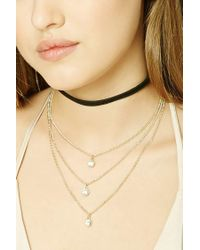 Forever 21 | Metallic Layered Choker Necklace Set | Lyst