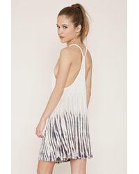 Forever 21 - White Tie-dye Mini Dress - Lyst