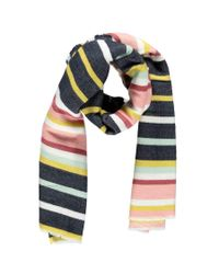 Forever 21 - Blue Striped Oblong Scarf - Lyst
