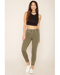 Forever 21 - Green Heathered Knit Joggers - Lyst