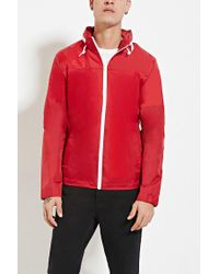 Forever 21 | Red Zip-up Hooded Windbreaker for Men | Lyst