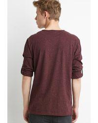 Forever 21 - Purple Speckled Henley for Men - Lyst
