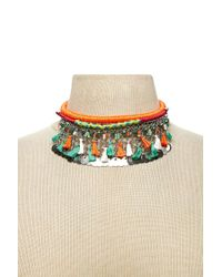 Forever 21 - Multicolor Woven Statement Necklace - Lyst