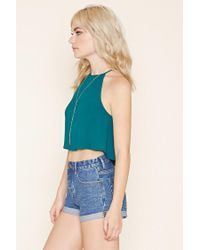 Forever 21 - Blue Crepe Trapeze Cami - Lyst