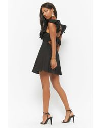 Forever 21 - Black Ruffle Eyelet Dress - Lyst