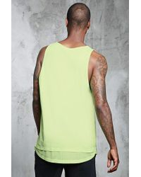 Forever 21 - Yellow Double-layered Hem Mesh Tank for Men - Lyst