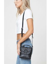 Forever 21 - Black Faux Leather Stud Crossbody - Lyst