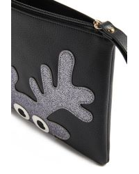 Forever 21 - Black Faux Leather Reindeer Clutch - Lyst