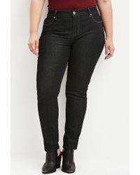 Forever 21 - Black Classic Skinny Jeans - Lyst