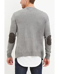 Forever 21 - Gray Stripe-sleeve Cardigan for Men - Lyst