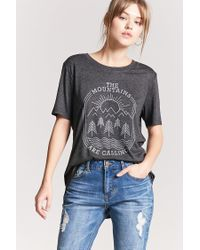 Forever 21 - Gray Heathered The Mountains Are Calling Graphic Tee - Lyst