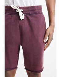 Forever 21 - Purple Frayed Drawstring Sweatshorts for Men - Lyst