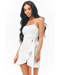 Forever 21 - White Flounce Mini Homecoming Dress - Lyst