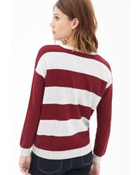 Forever 21 - Red Rugby Striped Sweater - Lyst