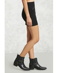 Forever 21 - Black Denim Mini Skirt - Lyst