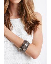 Forever 21   Metallic Engraved Hinge Bracelet   Lyst