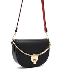 Forever 21 - Black Faux Leather Half-moon Crossbody - Lyst